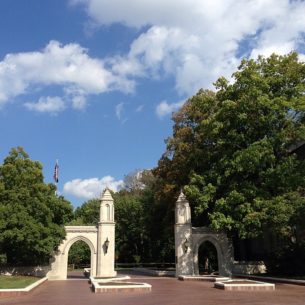 Oh, how sweet it is. #nofilter #samplegates #iu @iubloomington