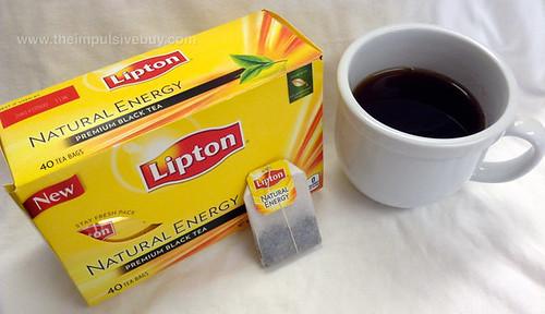Lipton Natural Energy Premium Black Tea Closeup