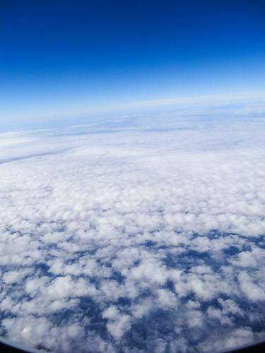 上空から見た雲海