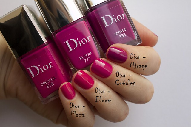 26 Dior 338 Mirage comparison swatches