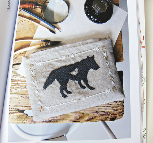 Wolf pencil case from Storyland Cross Stitch