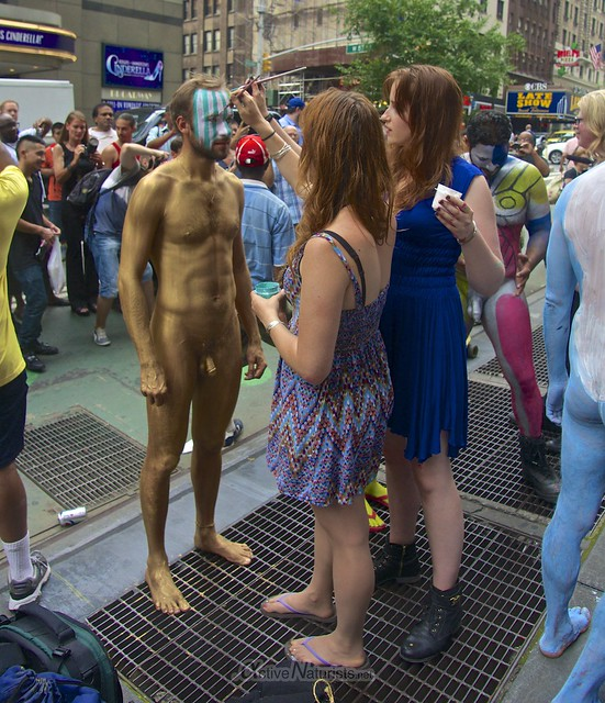 naturist 0005 body paint art, Times Square, New York, NY, USA