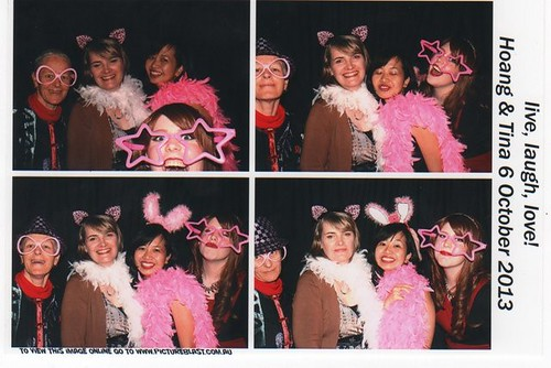 Fun at the Photobooth at TV's wedding