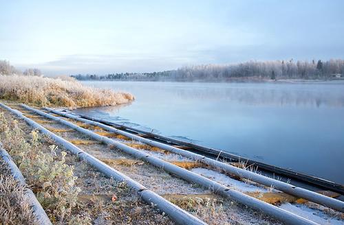 Morning mist, Sodankylä, Lapland
