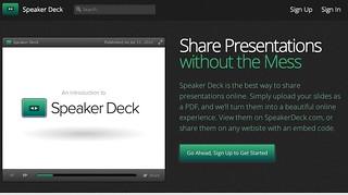 Speaker Deck Page