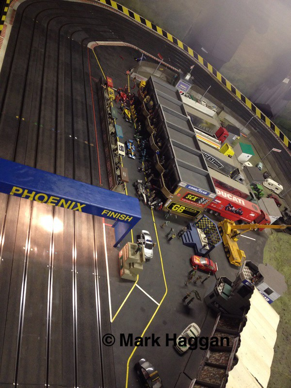 The Pit Lane at Phoenix Scalextric Track, Studley, Warwickshire