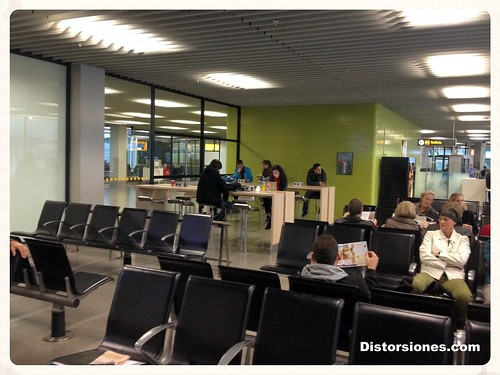 Sala de espera en Schiphol
