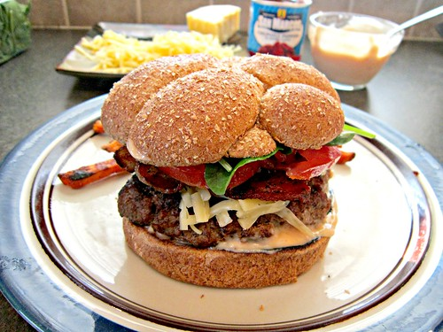 Smoked Gouda & Bacon Burger with Chipotle Mayo 2