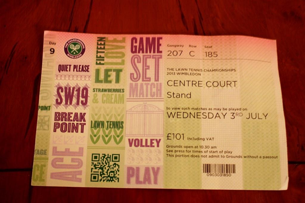 Wimbledon My Golden Ticket