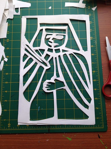 "Thirty days of making: ""stained glass"" panel"