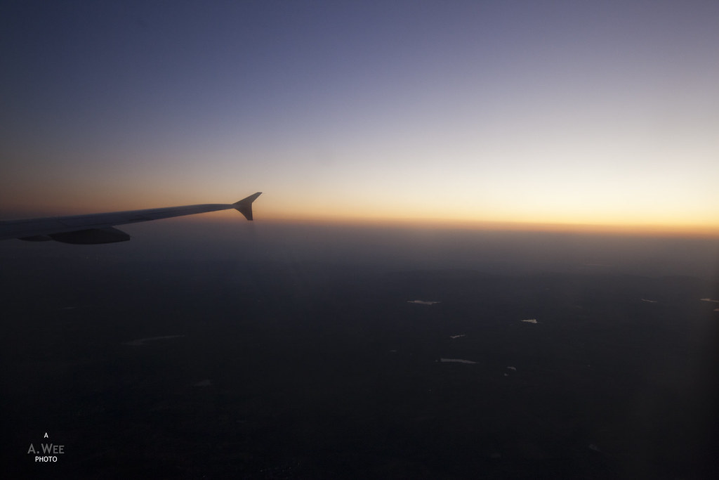 Sunset over Central India