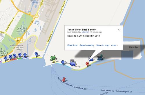 International Coastal Cleanup Singapore: Zones & Sites - Google Maps