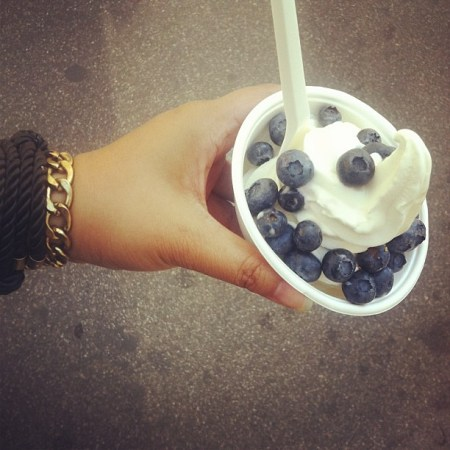 froyo blueberries