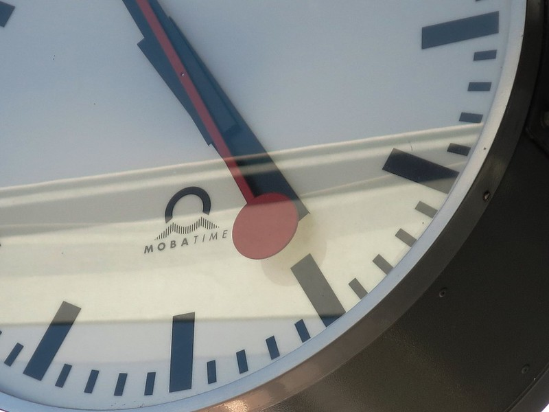 Close-up Station clock Solothurn