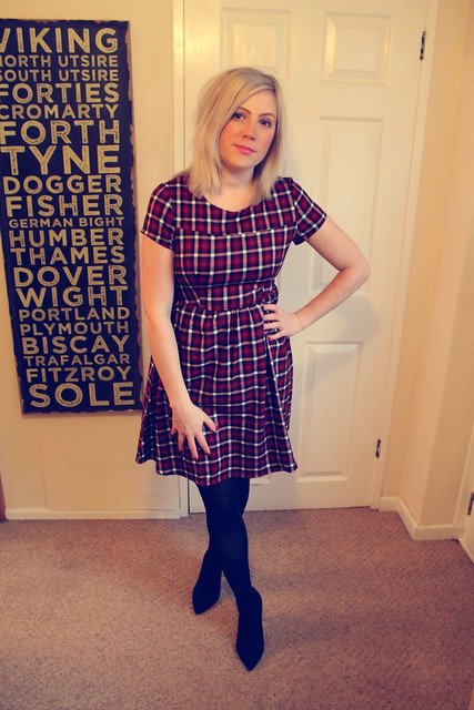 Glamorous tartan dress
