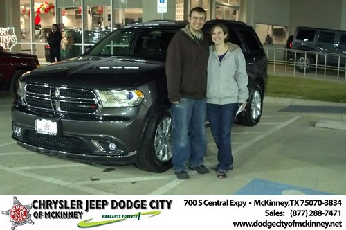 Thank you to Joanathan Rettig on your new 2014 #Dodge #Durango from Bobby Crosby and everyone at Dodge City of McKinney! #NewCarSmell by Dodge City McKinney Texas