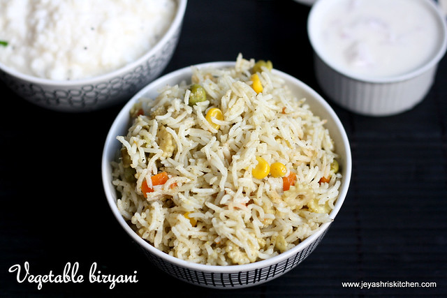 Vegetable biryani no onion- no garlic2