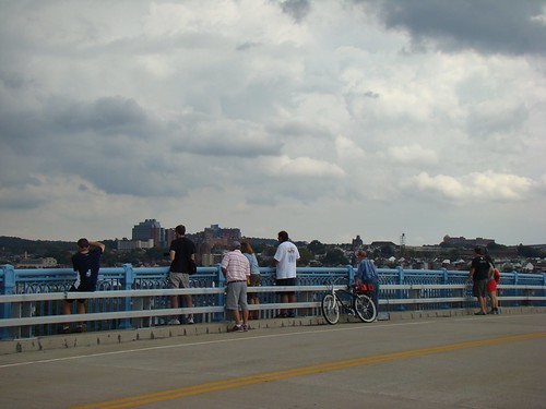 Watching the regatta from the 31st St Bridge - Oct. 5th 2013