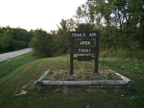 Trails are open