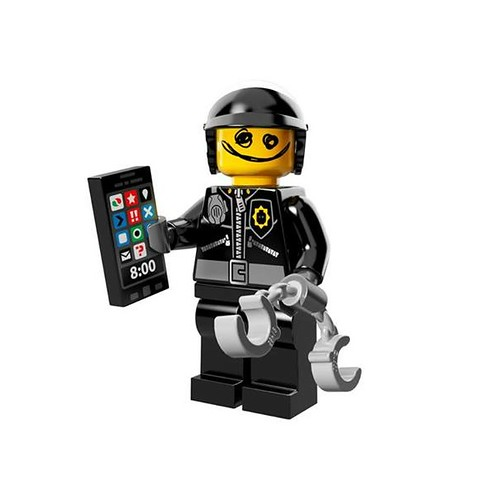 The LEGO Movie Minifigures Scribbe-Face Bad Cop