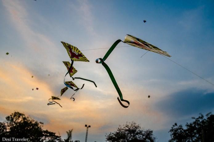 multi layered kite in sky