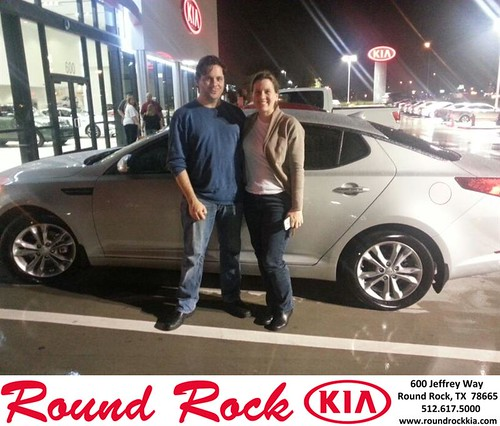 Thank you to William & Goodwin on your new 2013 #Kia #Optima from Fidel Martinez and everyone at Round Rock Kia! #NewCarSmell by RoundRockKia
