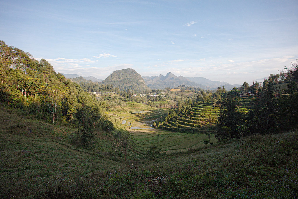 Looking out over the Bac Ha Valley.