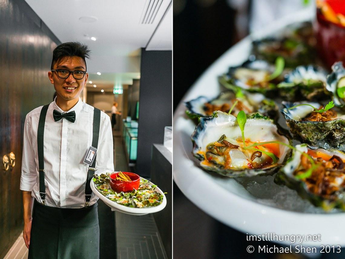 Fresh oysters with the darndest chilli lemon dressing Waitan Sydney