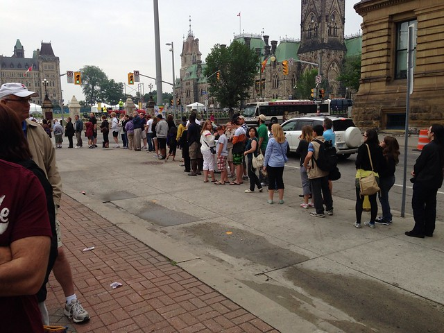 Line for Parliament Hill Tickets