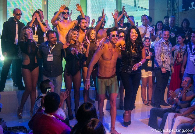 At the final Tarrao Underwear show of the 2013 Colombiamoda, the models brought the collection's designer, and other staff on stage. It was a nice moment.