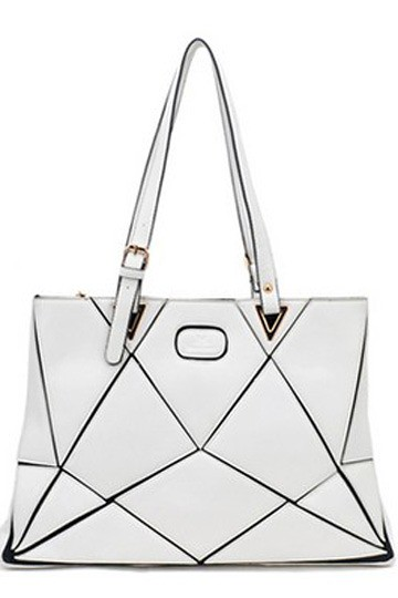 Geometric Matching Shoulder Handbag