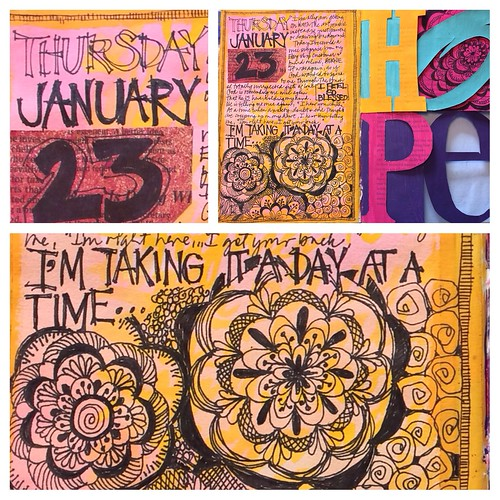 Art Journal Every Day - trying to get on with the art journaling using my altered book