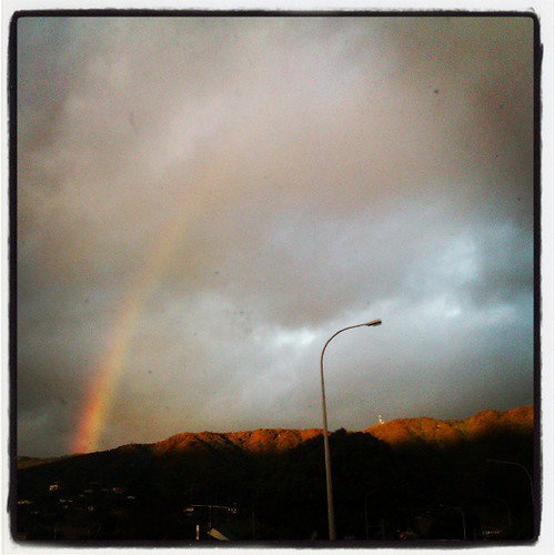 I can see a rainbow.