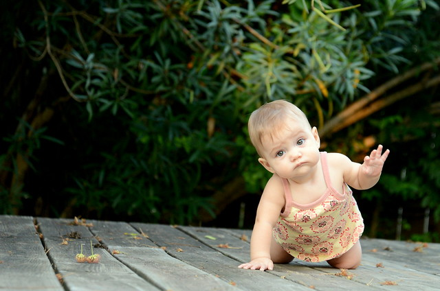 Reese Crawling on the Deck
