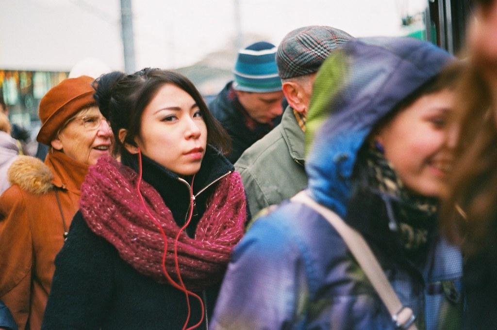 Praktica BC1 - People Entering a Tram