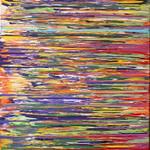 Linea Azul - 4 Feet X 4.5 Feet - Acrylic on Canvas