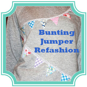 Bunting Jumper Refashion