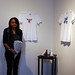 Danissa and her stenciled t-shirts and shoes