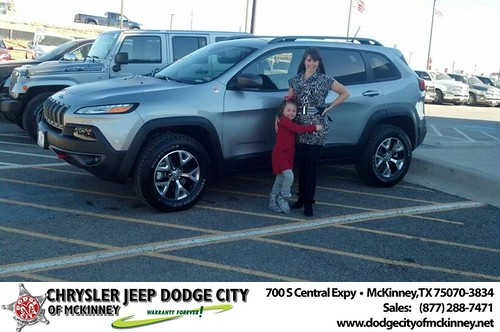 Thank you to Kristy Platt on your new 2014 #Jeep #Cherokee from Bobby Crosby and everyone at Dodge City of McKinney! #NewCarSmell by Dodge City McKinney Texas