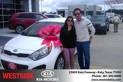 Westside KIA Houston Texas Customer Reviews and Testimonials-Luis Espinosa Montelongo by Westside KIA