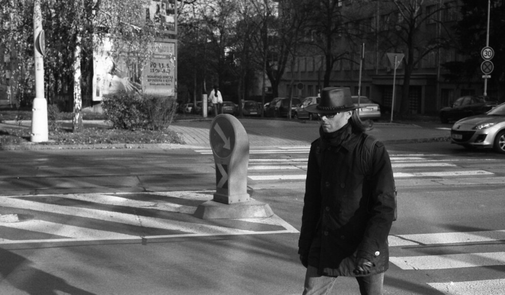 Kiev 4 + Helios 103 - Man with Hat