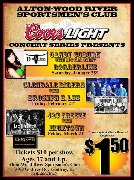 Coors Light Concert Series 2-21, 3-21-14