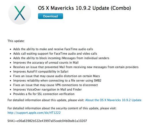 OS X Mavericks 10.9.2 Update (Combo)