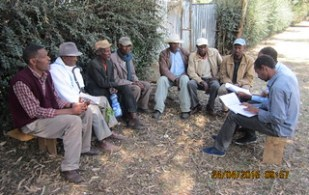Focus group discussion with male participants in Lemo