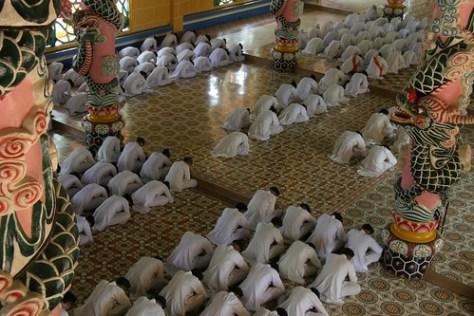 Cao Dai ceremony at Tay Ninh, Vietnam