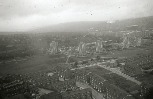 View from the Arts Tower, University of Sheffield. 4/10. Image thought to be taken soon after the building was opened in 1966. by The JR James Archive, University of Sheffield