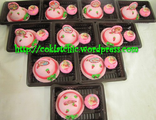 Minicake strawberry shortcake dan minicupcake baby one month
