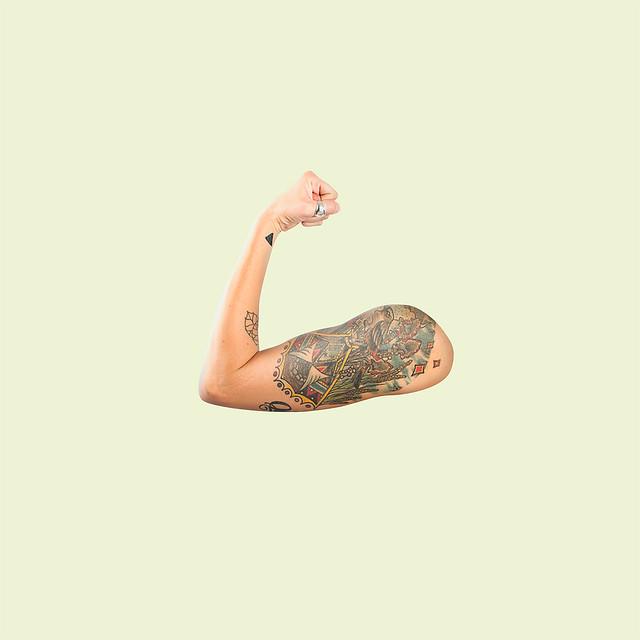 Emoji Tattoed arm