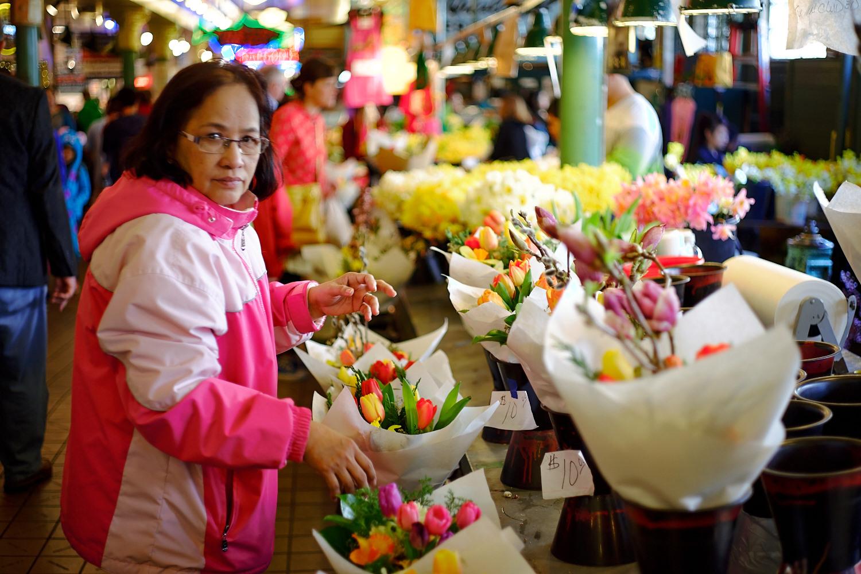 Flower shop lady