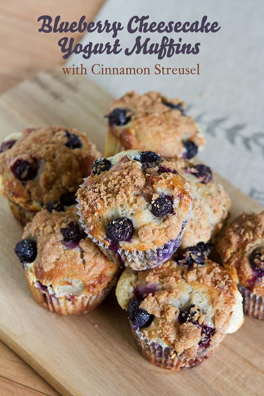 Blueberry Cheesecake Yogurt Muffins